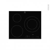 Plaque de cuisson 3 feux - Induction 60 cm - Verre Noir - ELECTROLUX - E6223HFK