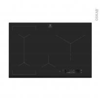 Plaque de cuisson 4 feux - Induction 80 cm - Verre Noir -  ELECTROLUX - EIS84486