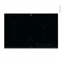 Plaque de cuisson 4 feux - Induction 80 cm - Verre Noir - ELECTROLUX - EIV83446