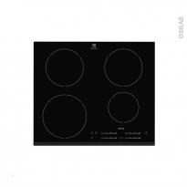 Plaque de cuisson 4 feux - Induction 60 cm - Verre Noir - ELECTROLUX - EHH6540F8K