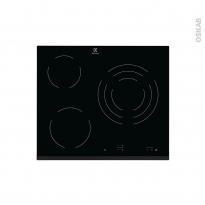 Plaque de cuisson 3 feux - Vitrocéramique 60 cm - Verre noir - ELECTROLUX - EHV6232FOK