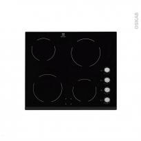 Plaque de cuisson 4 feux - Vitrocéramique 60 cm - Verre Noir - ELECTROLUX - EHV6140FOK