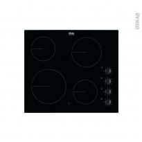 Plaque de cuisson 4 feux - Vitrocéramique 60 cm - Verre Noir - FAURE - FHRN640K