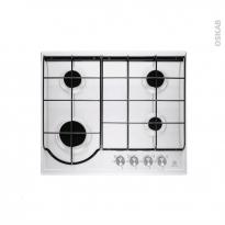 Plaque gaz - 4 foyers L60cm - Email Blanc - ELECTROLUX - EGH6242BOW