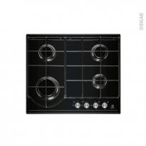 Plaque de cuisson 4 feux - Gaz 60 cm - Email Noire - ELECTROLUX - EGH6242BOK