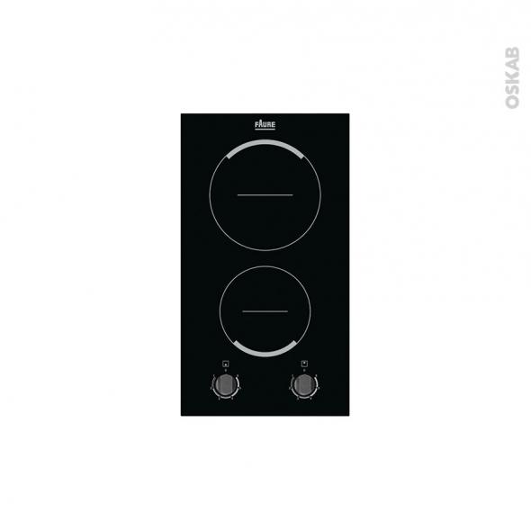la meilleure attitude d0f6e 323ea Plaque de cuisson 2 feux Vitrocéramique 29 cm Verre Noir FAURE FHF3920BOK -  Oskab