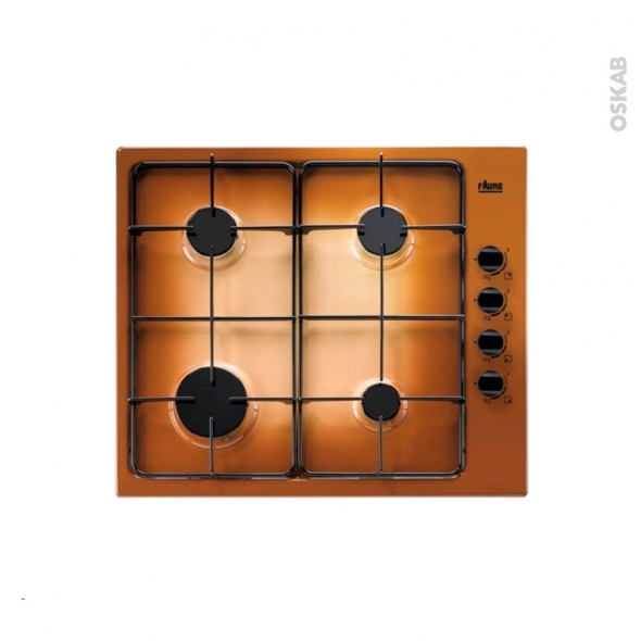 Plaque de cuisson 4 feux - Gaz - Email terre de France - FAURE - FGG62414TA