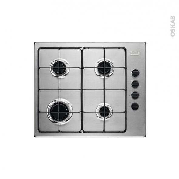 Plaque de cuisson 4 feux - Gaz 60 cm - Inox - FAURE - FGH62414XA