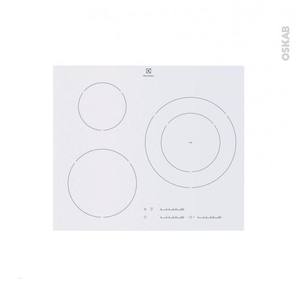 Plaque induction - 3 foyers L60cm - Verre Blanc - ELECTROLUX - EHM6532IWP