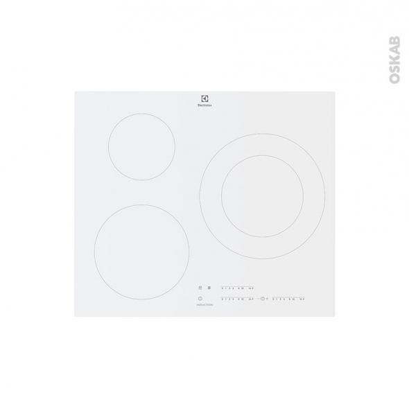 Plaque De Cuisson 3 Feux Induction 60 Cm Verre Blanc Electrolux
