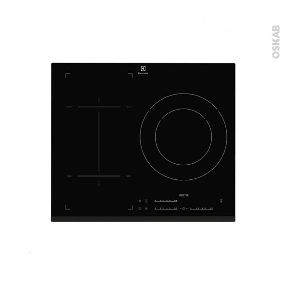 Plaque induction - 3 foyers L60cm - Verre Noir - ELECTROLUX - E6853FOK