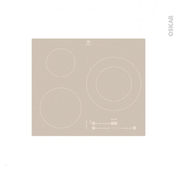 Plaque de cuisson 3 feux - Induction 60 cm - Verre Silver - ELECTROLUX - EHM6532IOS