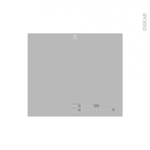 Plaque De Cuisson 3 Feux Induction 60 Cm Verre Silver Electrolux
