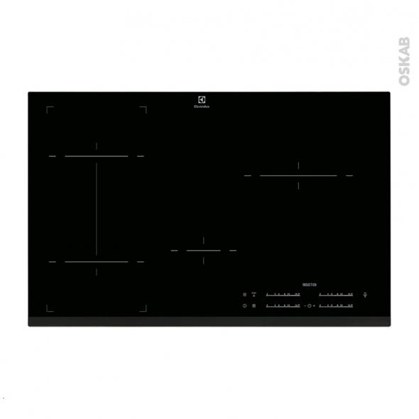 Plaque de cuisson 4 feux - Induction 80 cm - Verre Noir - ELECTROLUX - EHI8544FHK