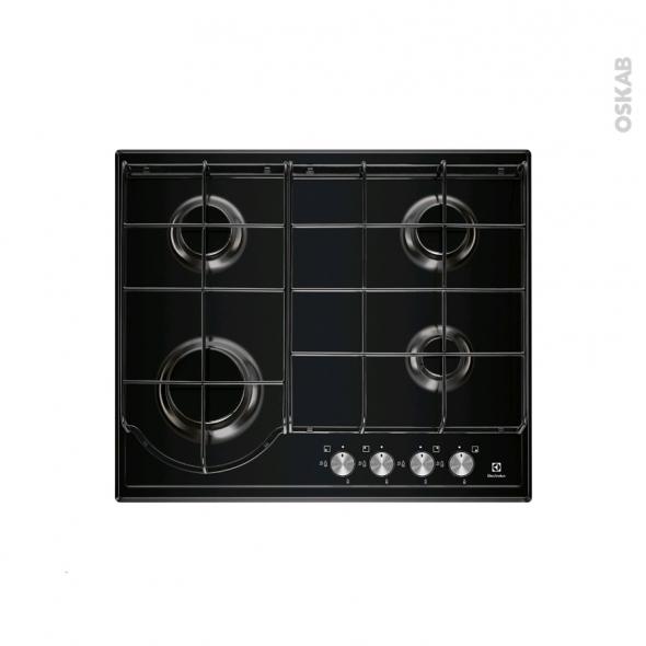 Plaque de cuisson 4 feux - Gaz - Email Noire - ELECTROLUX - EGH6242BOK