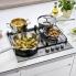 #Plaque de cuisson 4 feux - Gaz 60 cm - Inox - ELECTROLUX - EGH6349GOX