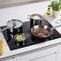 #Plaque de cuisson 4 feux - Induction 75 cm - Verre Noir - ELECTROLUX - EHD7740FOK