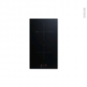 Domino induction - 2 foyers L30cm - Verre Noir - FRIONOR - PI29