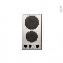 Domino électrique - 2 foyers L30cm - Inox - FRIONOR - DEMINFRI