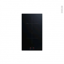 Domino induction - 2 foyers L30cm - Verre Noir - FRIONOR - PI29