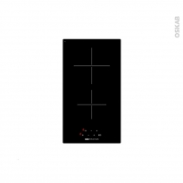 Plaque de cuisson 2 feux - Vitrocéramique 29 cm - Verre Noir - FRIONOR - DVMINFRI