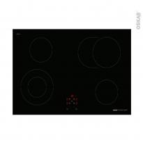 Plaque de cuisson 4 feux - Vitrocéramique 75cm - Verre Noir - FRIONOR - PVS754