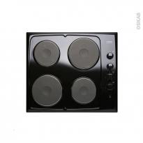 Plaque de cuisson 4 feux - Electrique 60 cm - Noir - FRIONOR - GENOFRI