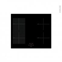 Plaque de cuisson 4 feux + Plancha - Induction 60 cm - Verre Noir - FRIONOR - INDUCTIONGRILL