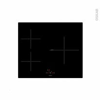 Plaque vitro - 3 foyers L60cm - Verre Noir - FRIONOR - VI3