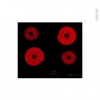 Plaque de cuisson 4 feux - Vitrocéramique 60 cm - Verre Noir - FRIONOR - PVS584