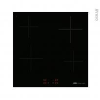 Plaque de cuisson 4 feux - Vitrocéramique 60 cm - Verre Noir - FRIONOR - PVS5841