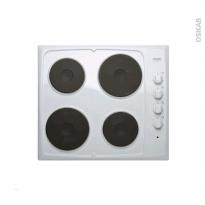 Plaque de cuisson 4 feux - Electrique 60 cm - Blanc - FRIONOR - GEBLFRI