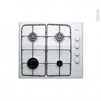Plaque de cuisson 4 feux - Gaz 60 cm - Blanc - FRIONOR - FRIP4GBL