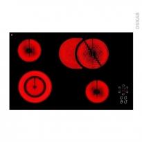 Plaque vitro - 4 foyers L80cm - Verre Noir - FRIONOR - PE75AV
