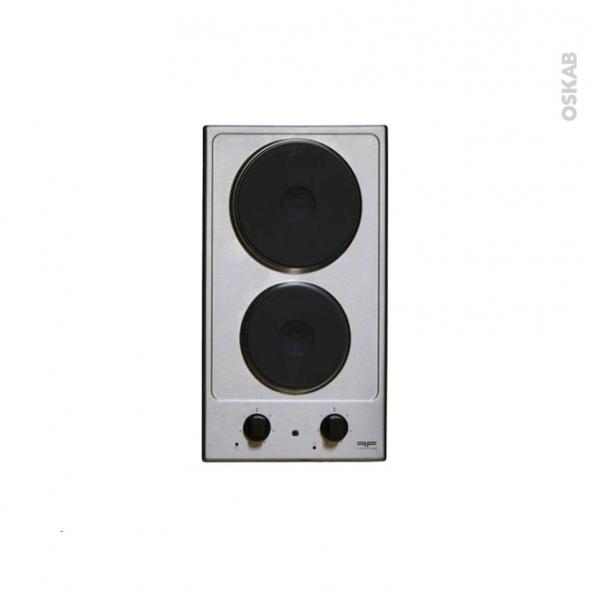 Plaque de cuisson 2 feux - Electrique 29 cm - Inox - FRIONOR - DEINFRI