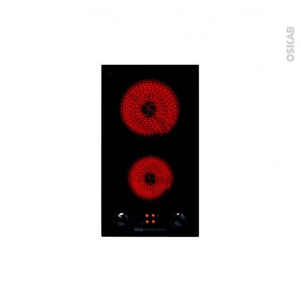 Plaque de cuisson 2 feux - Vitrocéramique 29 cm - Verre Noir - FRIONOR - DV29