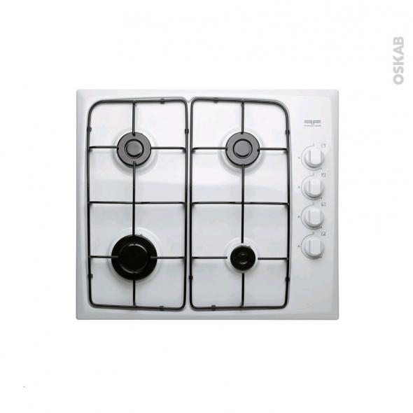 Plaque gaz - 4 foyers L60cm - Blanc - FRIONOR - FRIP4GBL