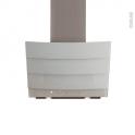 Hotte inclinée - 60cm - Verre Blanc - SILVERLINE - CITY