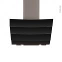Hotte de cuisine aspirante - Inclinée 60 cm - Verre Noir - SILVERLINE - CITY