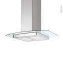 Hotte Ilot décorative - 90cm - Inox verre - SILVERLINE - KILI