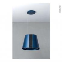 Hotte de cuisine aspirante - Ilot décorative 50cm - Lustre - Bleu - SILVERLINE - PURE