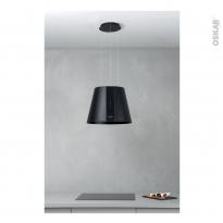 Hotte de cuisine aspirante - Ilot décorative 50cm - Lustre - Noir mat - SILVERLINE - PURE