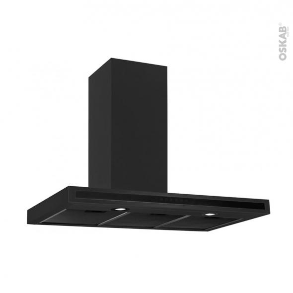 Hotte de cuisine aspirante - Box 90 cm - Inox - SILVERLINE - TEA