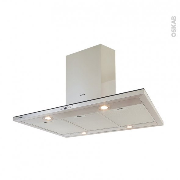Hotte Ilot décorative - 90 cm - Inox - SILVERLINE - CALIFORNIA