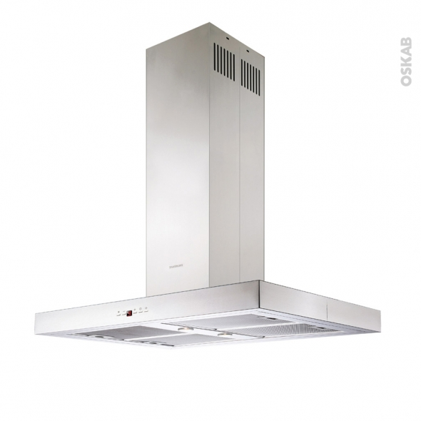 Hotte Ilot décorative - 90cm - Inox - SILVERLINE - TALLIA
