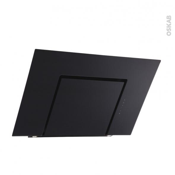 Hotte inclinée - 90cm - Noire - SILVERLINE - ZENA