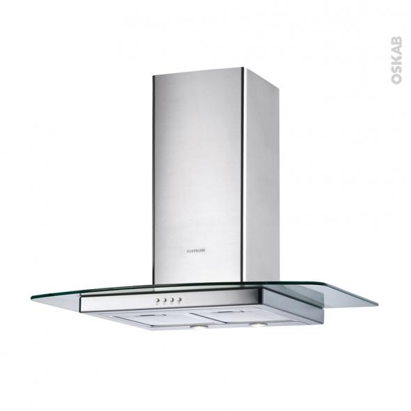 Hotte de cuisine aspirante - Verre 60 cm - Inox verre - SILVERLINE - HERA
