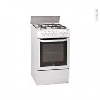 Cuisinière - Gaz / Catalyse - Blanc - INDESIT - I5GGC1G(W) FR