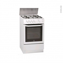 Cuisinière - Gaz / Email - Blanc - INDESIT - I5GGG(W)FR