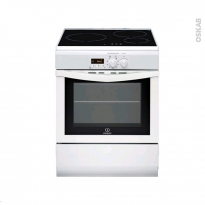 Cuisinière - Induction / Pyrolyse - Blanc - INDESIT - I63IMP6A(W)/FR